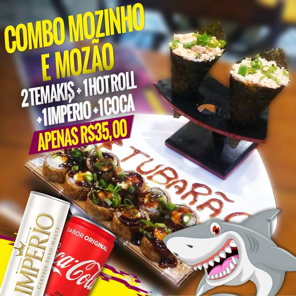 2 temaki + 1 hot roll + 1 Imperio + 1 coca 220ml