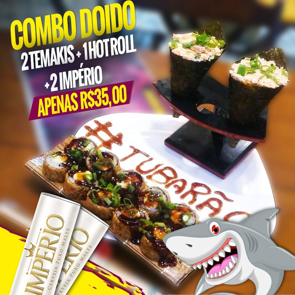 Combo - 2 temaki + 10un de hot roll + 2 imperio 35
