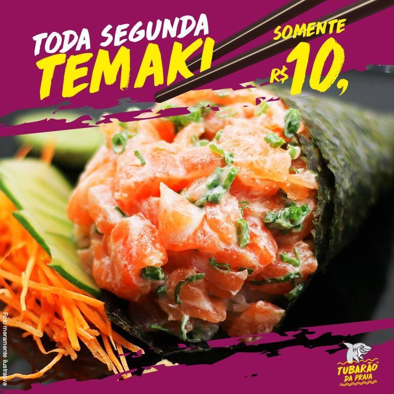 Promoção de Temaki - Todas às Segundas